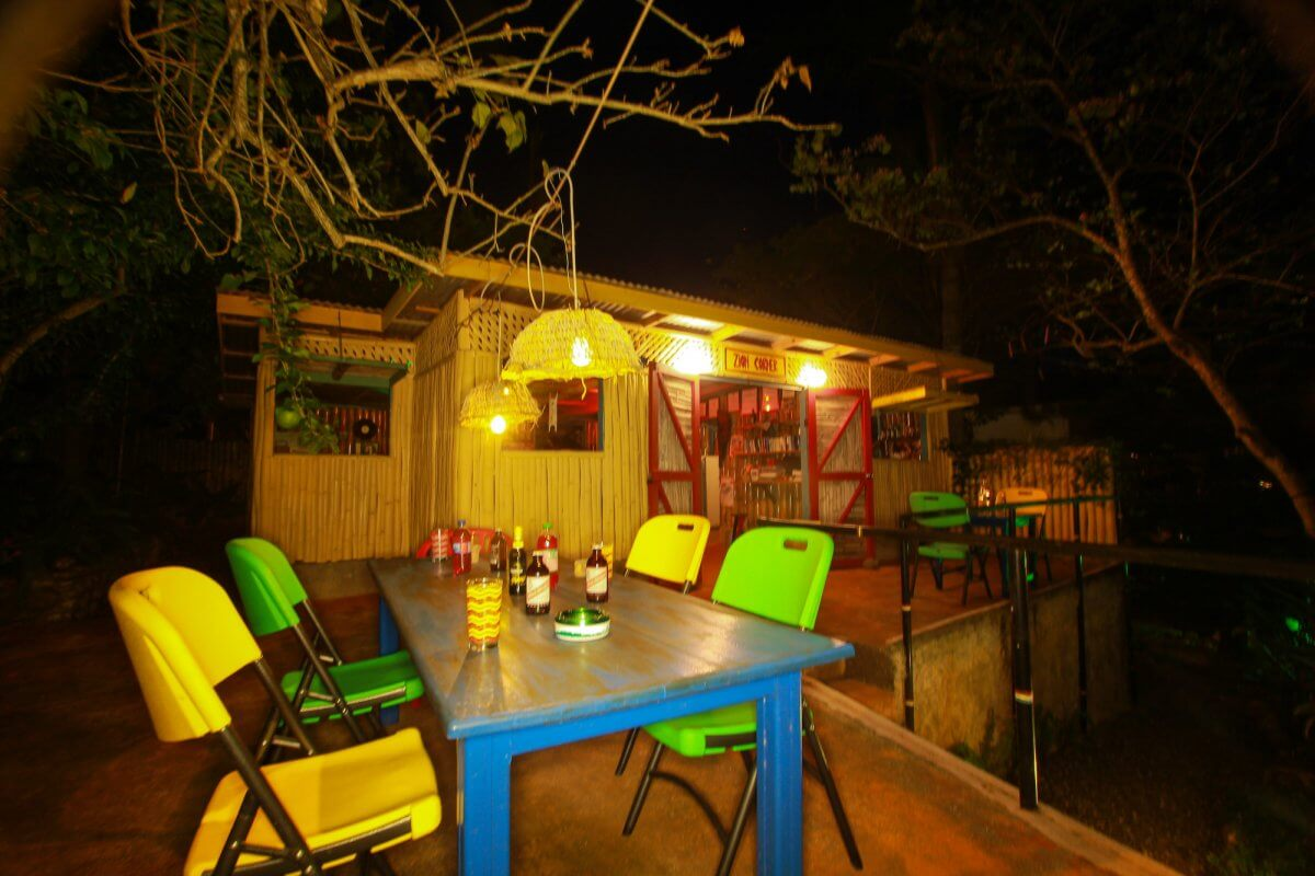 relax area by night at Zion Country